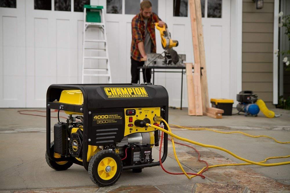 Renewed Champion 3500-Watt RV Ready Portable Generator with Wireless Remote Start CARB