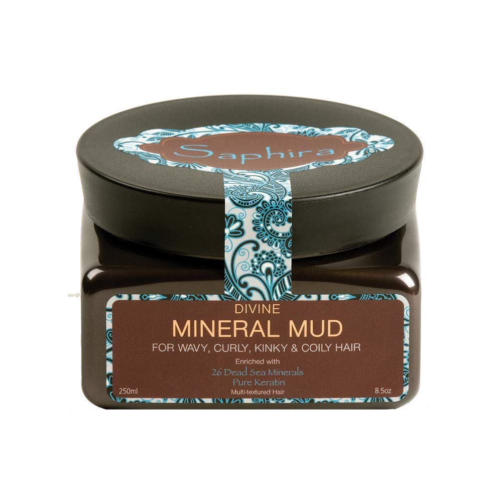 SAPHIRA Divine Mineral Mud for Curly and Wavy Hair, 8.5 oz (Original Packaging): Premium Beauty