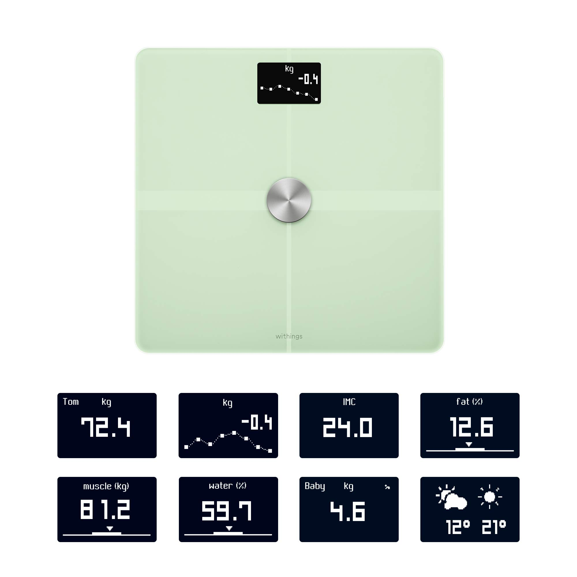 Withings | Body+ - Smart Body Composition Wi-Fi Digital Scale with smartphone app, Green by Withings (Image #2)