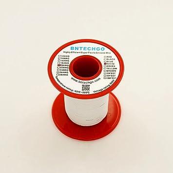 bntechgo® 20 Gauge Silikon Draht 50 Füße weiß weich und flexibel ...