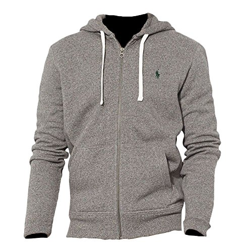 Polo Ralph Lauren Classic Full-Zip Fleece Hooded Sweatshirt - S - Alaskan - Polo Men Tracksuit Ralph Lauren