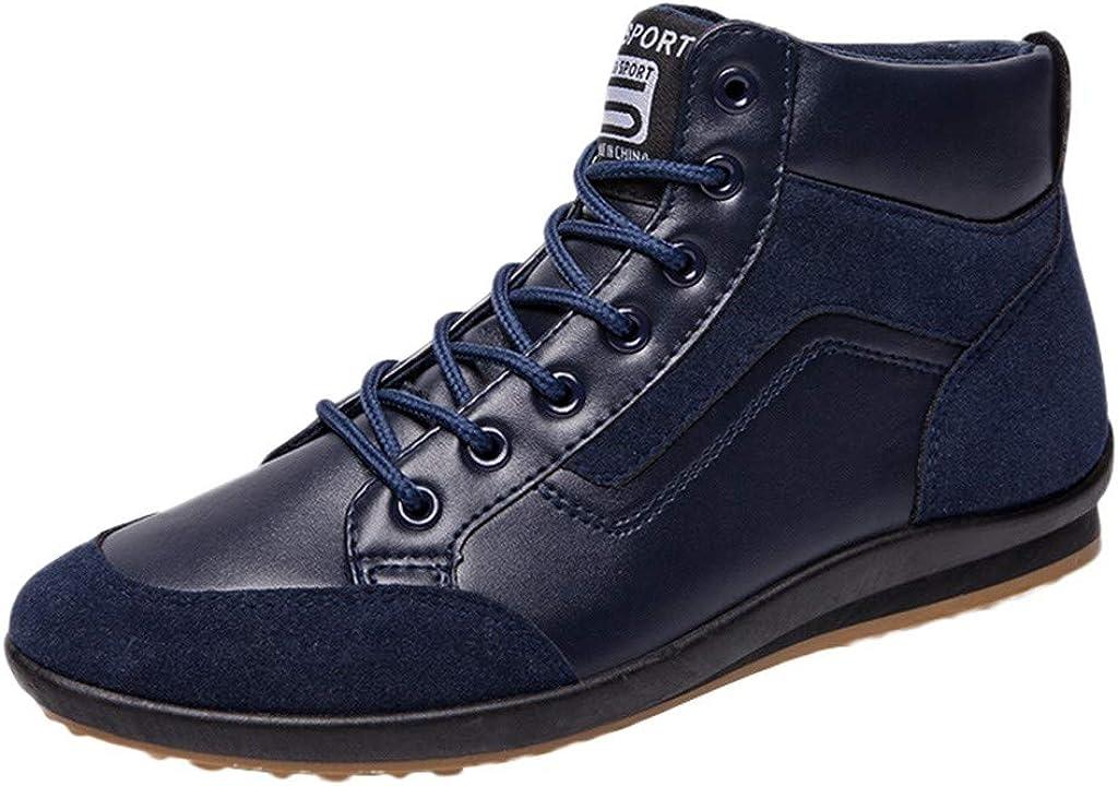 HEETEY - Botas de hombre modernas, zapatos de tacón alto, zapatos de ocio, zapatos de deporte, moda para hombre, zapatos de ocio, talla grande, retro, zapatos de hombre