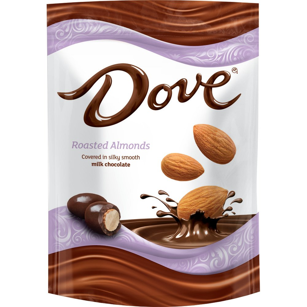 Dove Milk Chocolate Covered Almond Candy Pouch, 5.5 Ounce