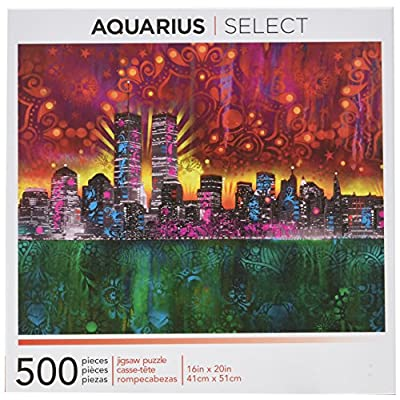 Aquarius Dean Russo Twin Towers Jigsaw Puzzle: Toys & Games