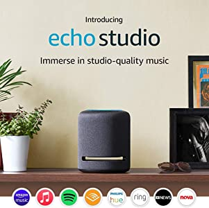 Echo Studio - Smart speaker with high-fidelity audio and Alexa