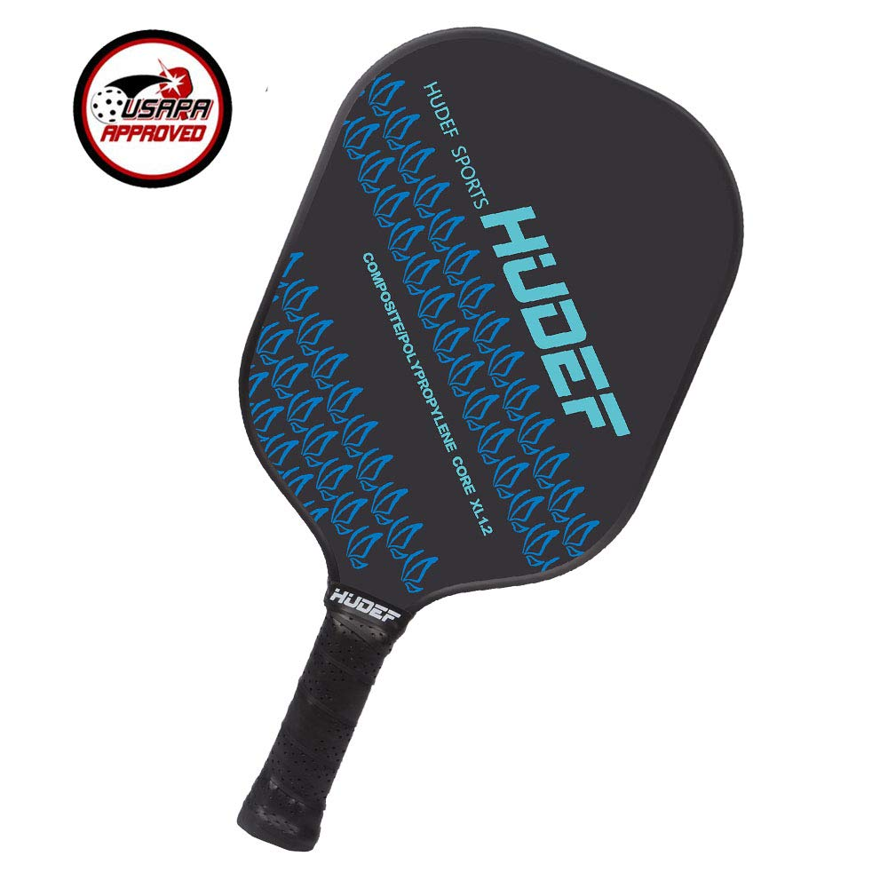HUDEF Pickleball Paddle with Composite Graphite Paddle face and PP Honeycomb Core | Lightweight 7.2-7.8 oz | Full 1 Year Warranty |