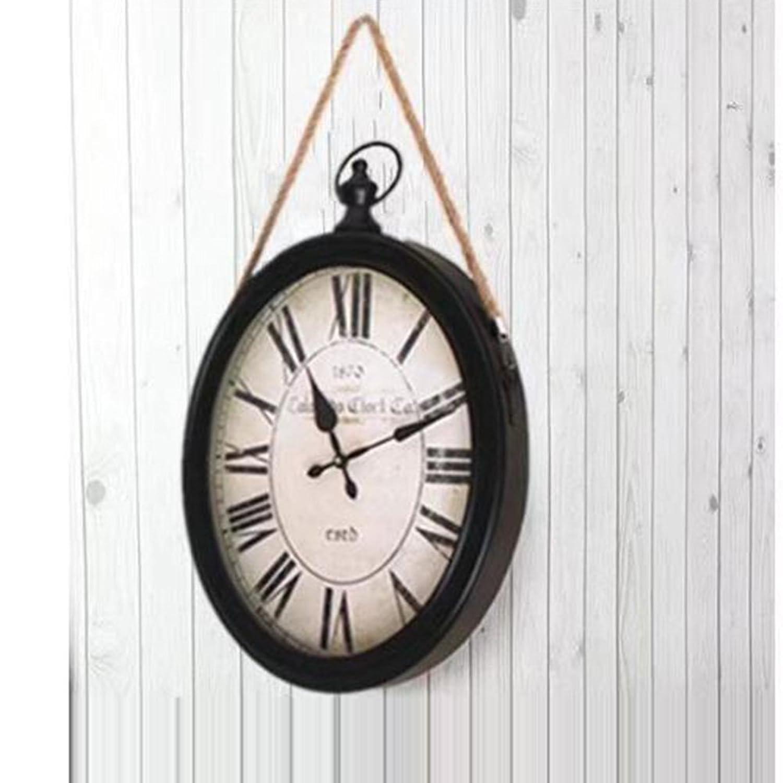 ショーツブリーフ アンティークレトロ装飾壁時計クォーツムーブメントスイング振り子時計古典的なヴィンテージ寝室居間台所用品の装飾 B07C6H1S98