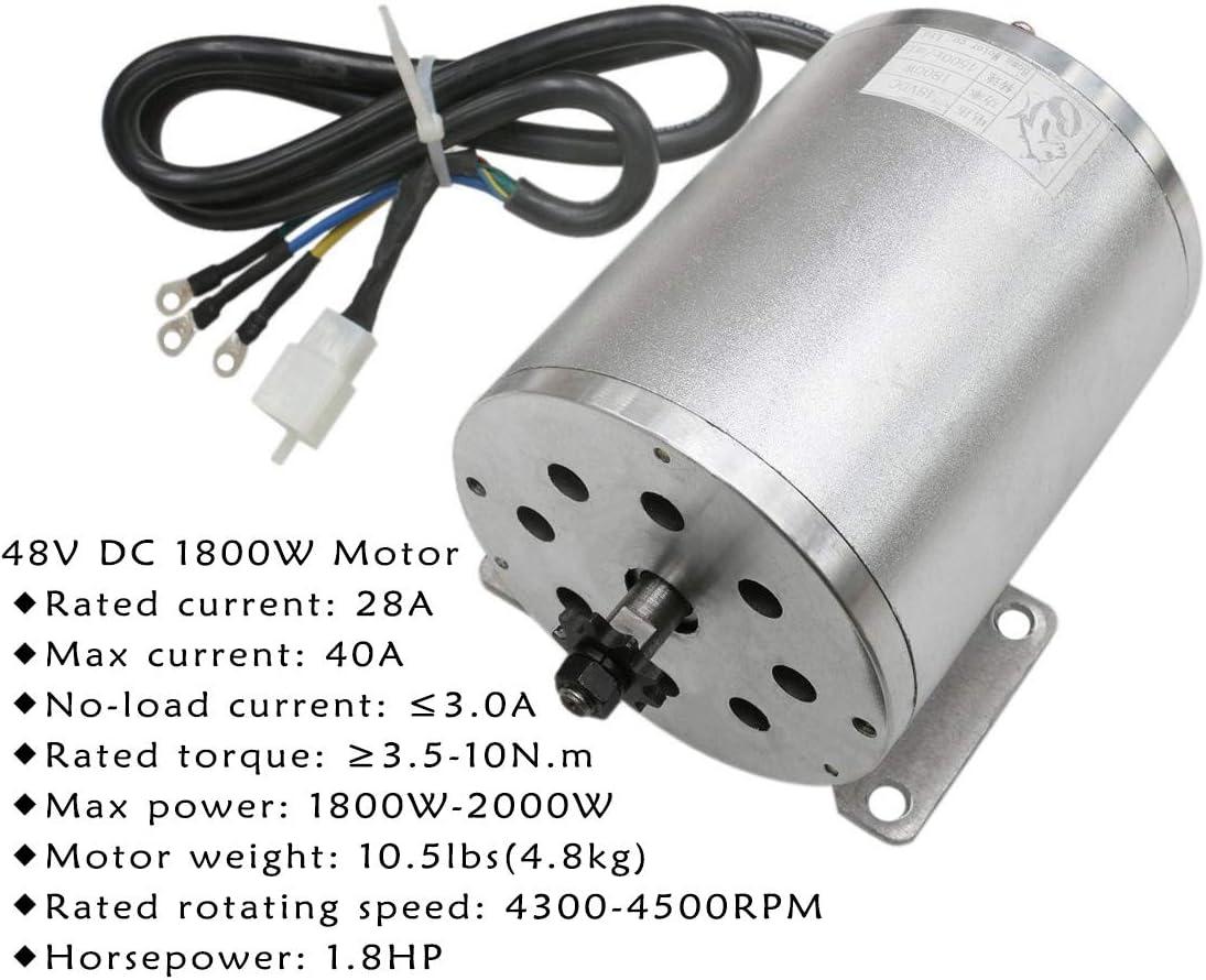 Details about  /Electric Brushless DC High Speed Motor Complete Kit 48V 1500W EBike Go Kart ATV
