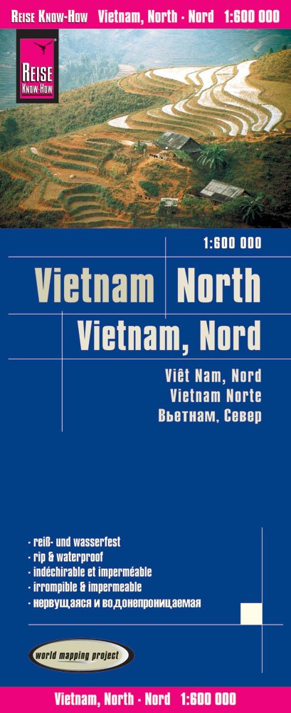 Reise Know-How Landkarte Vietnam Nord (1:600.000): world mapping project