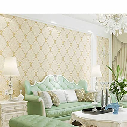 Smart 3d European Living Room Wallpaper Bedroom Sofa Tv Backgroumd Of Wall Paper Roll 10m Non-woven Fabric Paper Strong Packing Painting Supplies & Wall Treatments