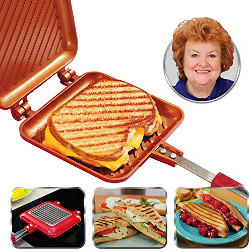 Why Should You Buy Red Copper Flipwich Non-Stick Grilled Sandwich and Panini Maker by BulbHead