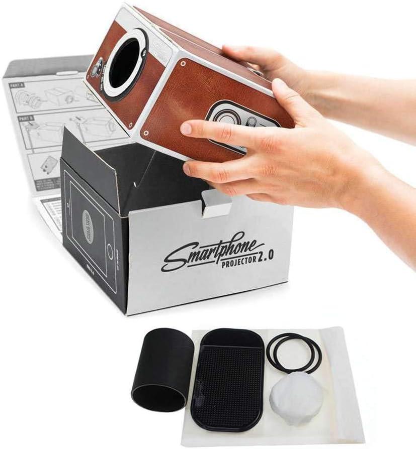 Fornateu Proyector DIY 3D de cartón Mini Smartphone luz del ...