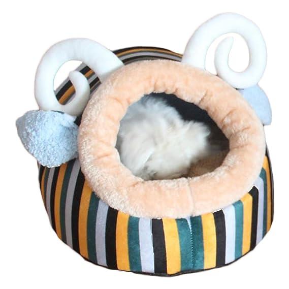 ZooBoo Cama para perro, gato o mascota, para interior o interior, diseño de conejos de cachorro, cojín para caseta de animales pequeños - esponja: ...