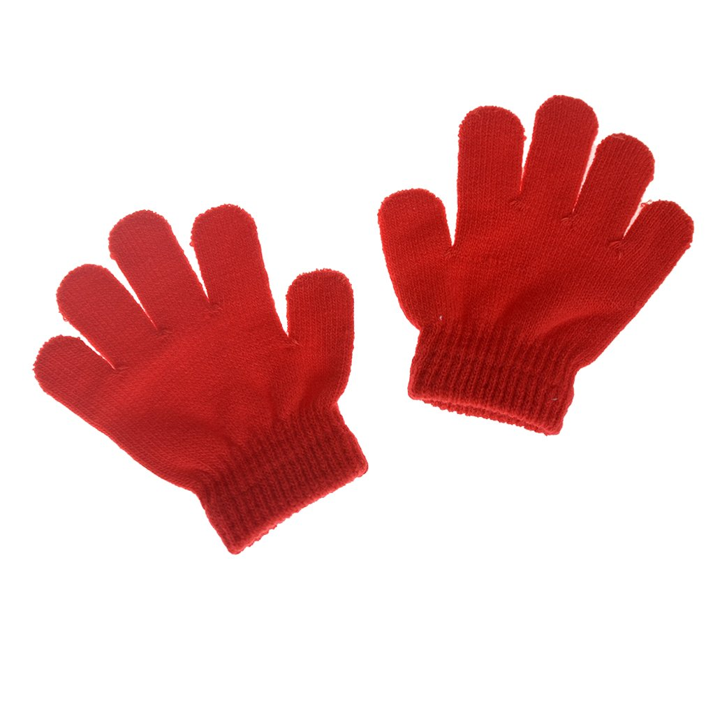 Cren Little Boys and Girls Winter Knitted Magic Gloves Infant Toddler Baby Mittens