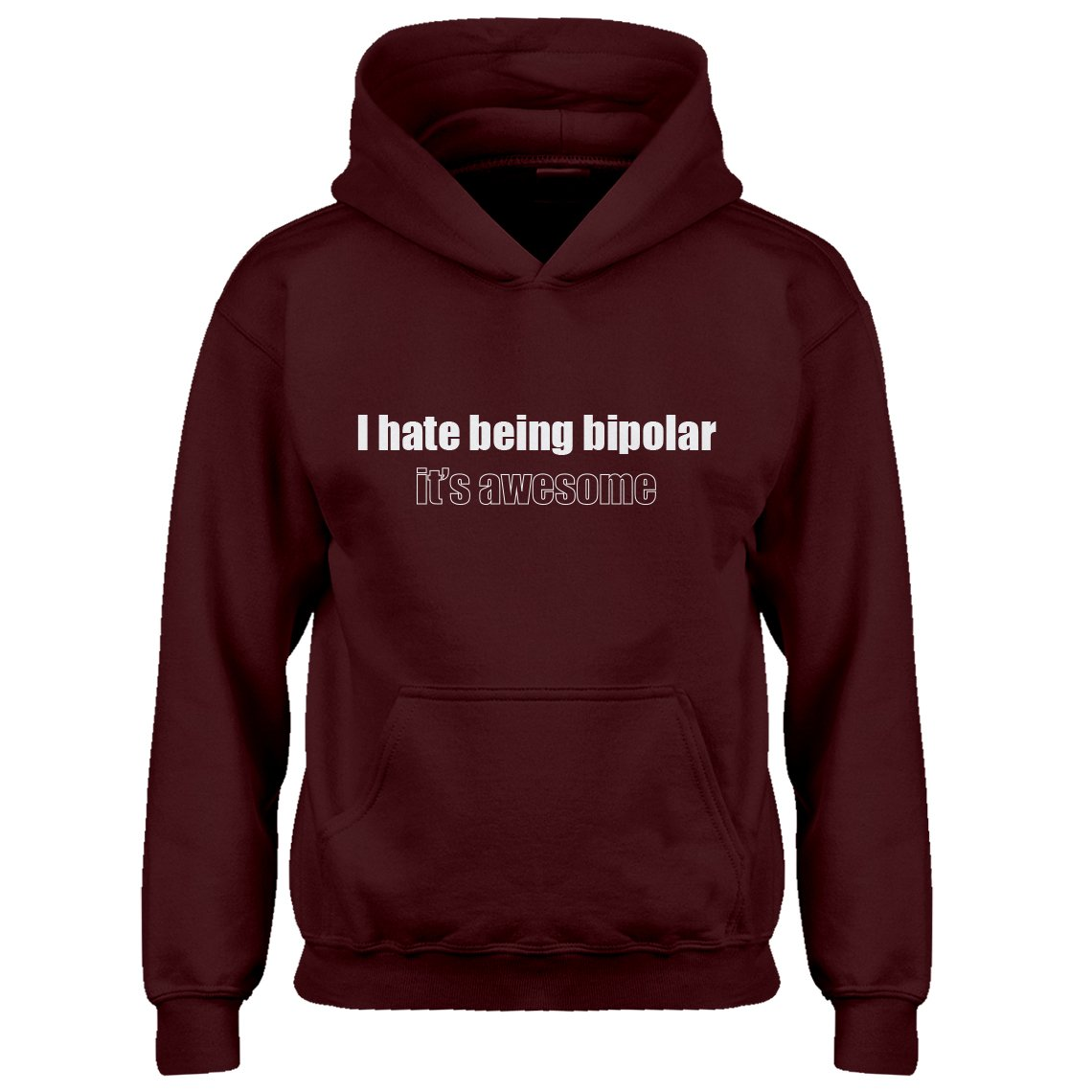 Indica Plateau Youth Being Bipolar Kids Hoodie