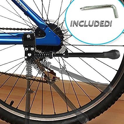 TOPTREK Bike Kickstand Aluminum Alloy Adjustable Bicycle Kickstand Rear Side ...