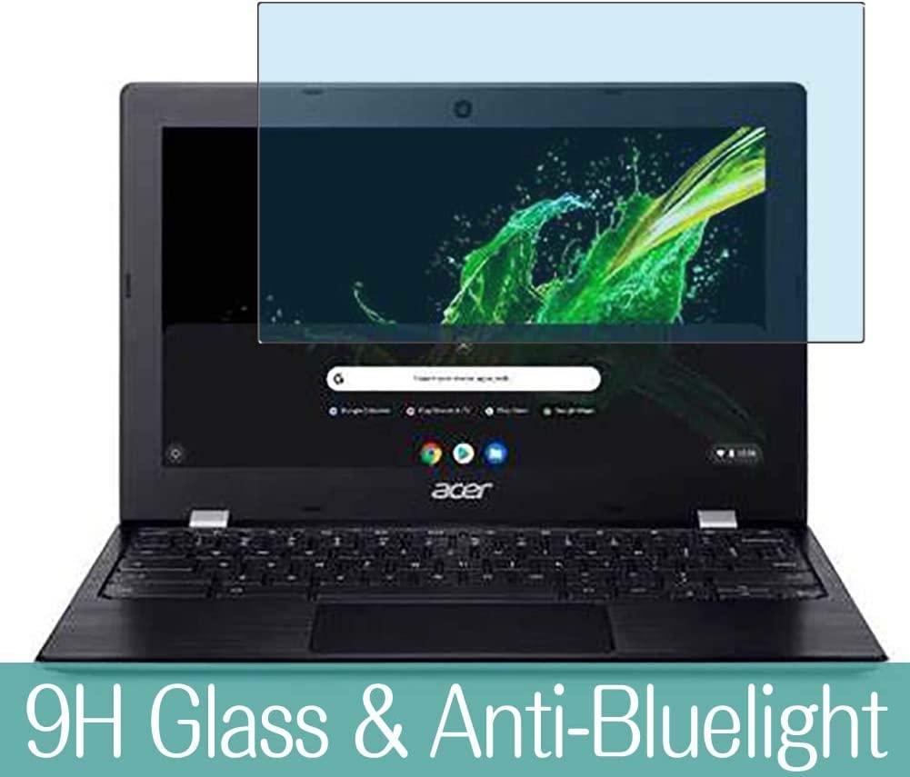 "Synvy Anti Blue Light Tempered Glass Screen Protector for Acer Chromebook 311 CB311-9H / CB311-9Ht 11.6"" Visible Area 9H Protective Screen Film Protectors (Not Full Coverage)"