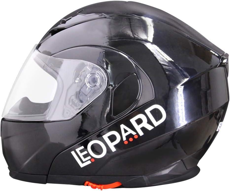 Leopard LEO-838 Casque Moto Modulable Double Visi/ère ECE Homologu/é Homme Femme