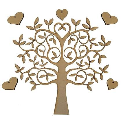 Wss Set Kit árbol Genealogico árbol Corazones Y Nombres De La