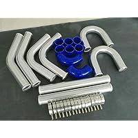 8 tubos universales de aluminio para intercooler turbo