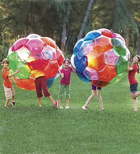 Light Up Multi Color Kaleidoscopic GBOP Great Big Outdoor Play Ball Confetti Filled Motion Activated LEDs Inflatable Durable PVC 65'' Diam by HearthSong (Image #5)
