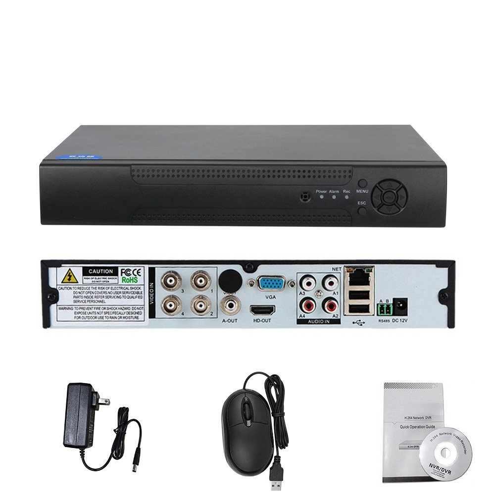 Amazon.com: Hiseeu 4CH 1080P 5 in 1 DVR video recorder for AHD camera  analog camera IP camera P2P NVR cctv system DVR H.264 VGA HDMI: Cell Phones  & ...