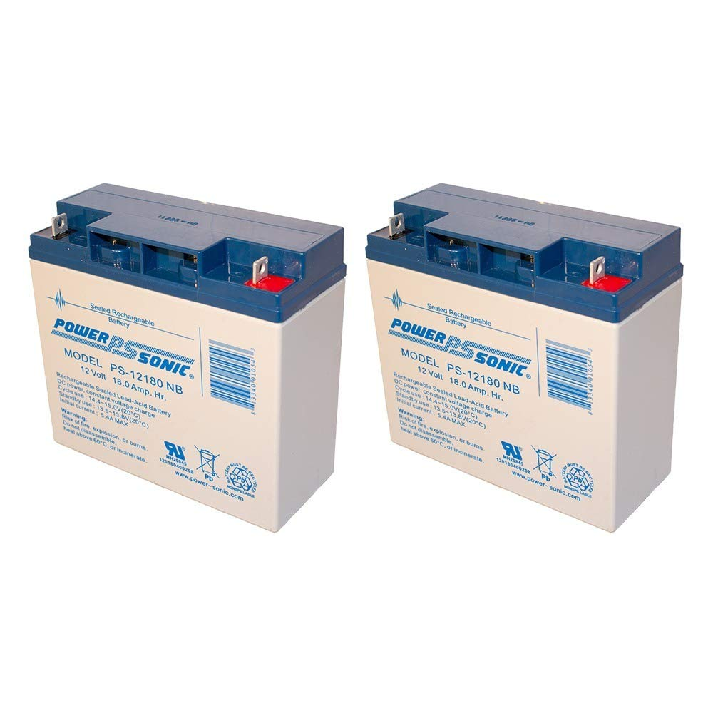 Powersonic 12V 18AH SLA Replaces Merits Travel-Ease Regal P120, P320-2 Pack by Powersonic (Image #2)