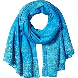 Orchid Row Women's Knit Lurex Solid Shine Fashion Basic Scarf