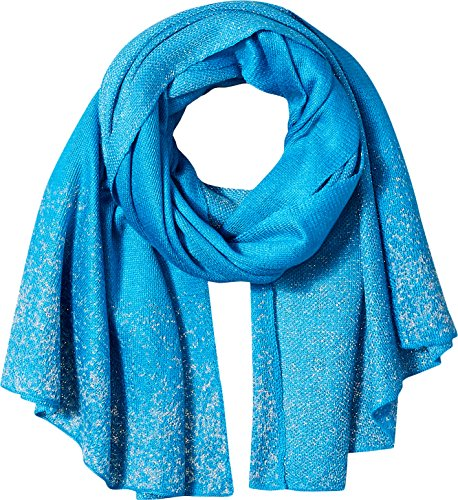 Orchid Row Women's Knit Lurex Solid Shine Fashion Basic Scarf