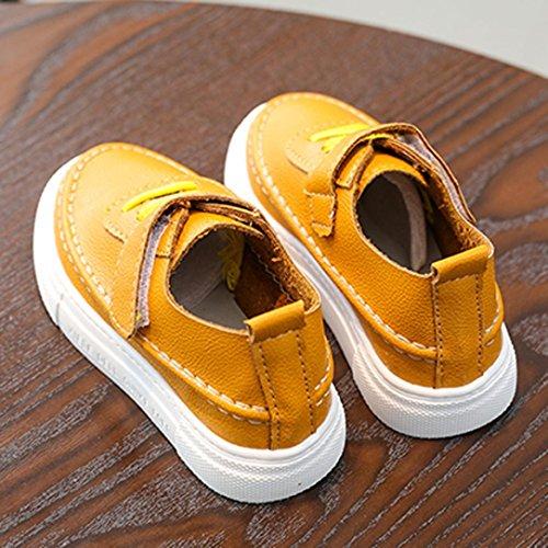 Jamicy® Kinderschuhe, Baby Jungen Mädchen Casual Leder Flache Schuhe Gelb