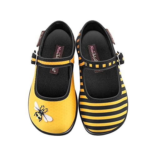 Unique soft white travel slippers printed with a bumble bee design
