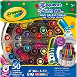 Crayola  50 Telescoping Pip-Squeaks Telescoping Mini Marker Tower, Adult Colouring, Bullet Journaling, School and Craft Supplies, Drawing Gift for Boys and Girls, Kids, Teens Ages  5, 6,7, 8 and Up, Holiday Toys, Stocking Stuffers, Arts and Crafts
