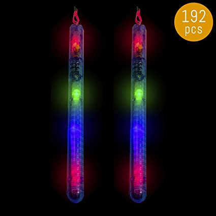 Glow Party Wand Glow In The Dark Stick Festival Rainbow Light Up Concert Kids