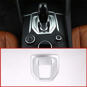 YUECHI Matte Silver ABS Chrome for Alfa Romeo Giulia Stelvio 2017 2018 2019 Car Styling Interior Center Console Gear Shift Panel Cover Trim Sticker Auto Accessories
