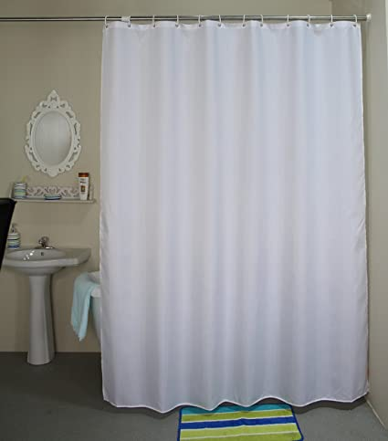 Amazon.com: 84-inches Extra Long Shower Curtain, Welwo Fabric Shower ...