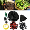 KINGSO 82FT Micro Drip Irrigation Kit System Tubing Watering Drip Kit Garden Hose Watering Kit Sprinkler Kit System for Flower Bed Patio Garden Greenhouse Plants