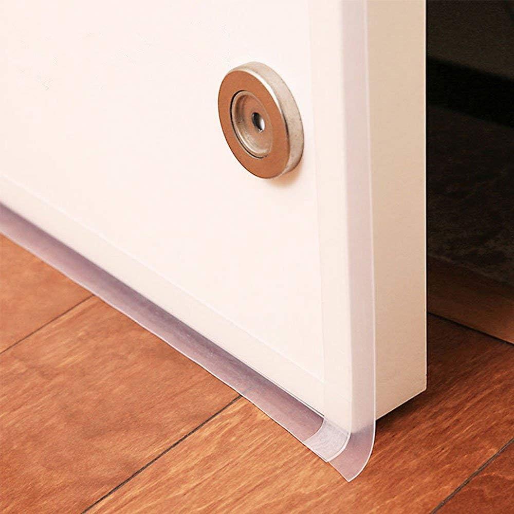 """Zengest Door Strip Bottom, House and Glass Shower Door Seal Strip for Side of Door(Transparent), 1"""" x 16.4'"""