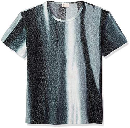 Thaddeus O'Neil Men's Stripe Tie Dye Terry Tee, Hunter Green, Extra Large (Terry Tie Dye)