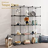 Tespo Metal Wire Storage Cubes, Modular Shelving Grids, DIY Closet Organization System, Bookcase, Cabinet, (12 - Regular Cube.)