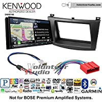 Volunteer Audio Kenwood DNX874S Double Din Radio Install Kit with GPS Navigation Apple CarPlay Android Auto Fits 2010-2013 Mazda 3