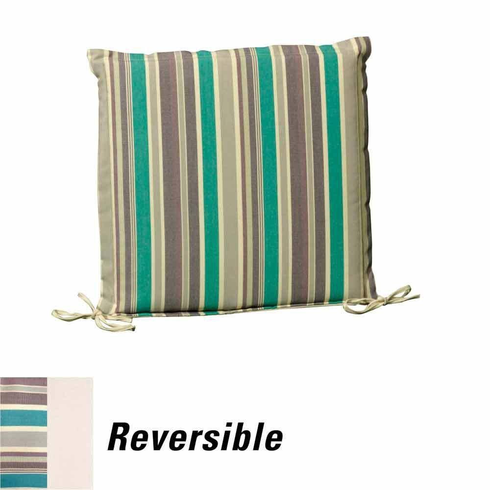 43 x 43 x 5 cm Design a Strisce Cuscino del Sedile Rimovibile 8097030 Papillon