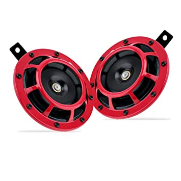 Loud Car Horn >> Zento Deals Loud Electric Grill Mount Horns Premium Quality 12v Dual Supertone Horns Red Protective Grills Electric Loud Car Horn Kit High And Low