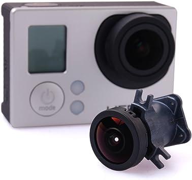 Immersioni Obiettivo della Fotocamera Sostituzione dellObiettivo Grandangolare da 170 Gradi per Gopro Hero 4//3 +//3 Accessorio per Action Camera Nero Adatto per Paracadutismo Riprese di Strada