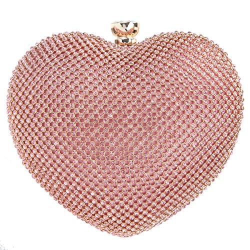 Fawziya Cute Heart Shape Clutch Purses For Women Clutches And Evening - Shape Heart Cute