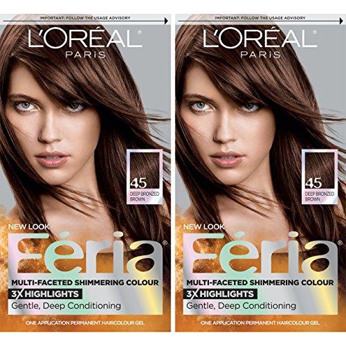 L'Oreal Paris Feria Permanent Hair Color, French Roast, 2 Count
