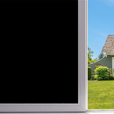 Velimax static cling blackout window film privacy window tint black stickers 100 light blocking room