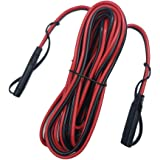 AEISVIK Battery Charging Cables SAE TO SAE 12V-24V Quick Disconnect Extension Cable 2 Pin With Dust Cap DC Connection…
