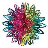 Multicolored Starburst Metallic Balls Decoration 2 count