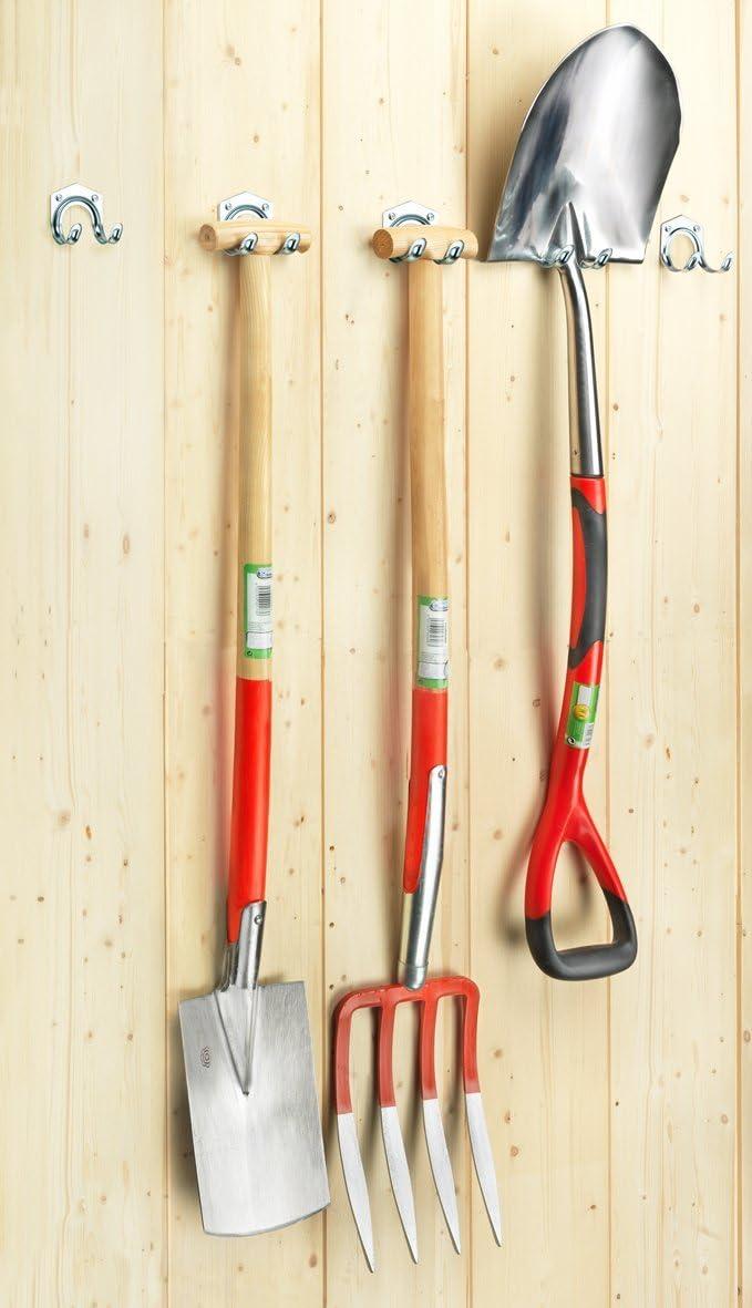 FLOR38415 Garten Connex Ger/ätehaken schwere Ausf/ührung Gartenger/ätehalter Wandhalter Ordnungssystem Ger/ätehalter