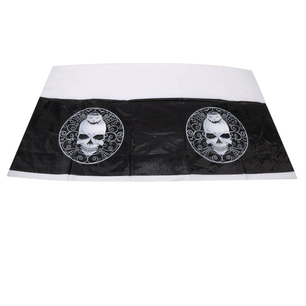 7ft x 4.5ft Plastic Day of the Dead Halloween Tablecloth